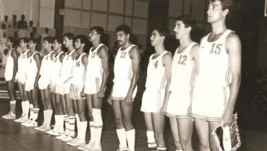 فريق الجيش السوري لكرة السلة عام 1987
