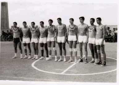 منتخبا دمشق وحلب  في كرة السلة - الرقة 1967