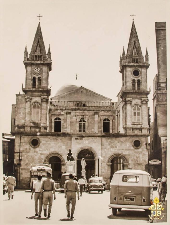 Aleppo 1968: A view on the St. Elias Maronite Catholic Church