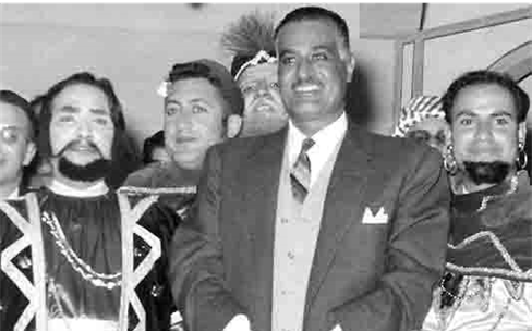 جمال عبد الناصر يشهد عرض مسرحية تاجر البندقية بجامعة دمشق (1)