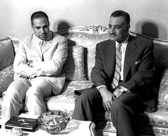 جمال عبد الناصر يستقبل عبد الحميد السراح 1962 (1)