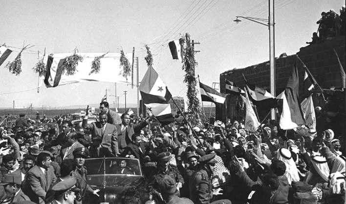 جمال عبد الناصر في السويداء بمناسبة العيد الثانى للوحدة عام 1960م (4)