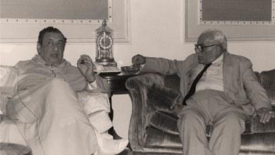 عمر بهاء الدين الأميري مع د.حسن ظاظا  في الرياض 1985