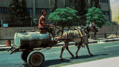 دمشق - بائع محروقات متجول - ركن الدين عام 1982