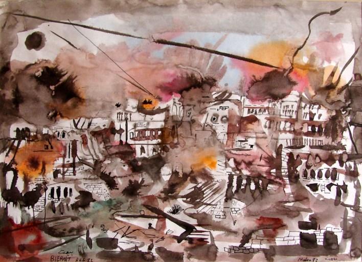 لوحة (بيروت)للفنان أحمد مادون (30)