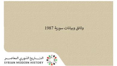 وثائق سورية 1987