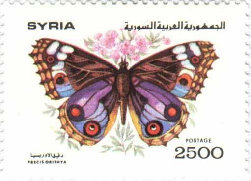 طوابع سورية 1993 -  الفراشات
