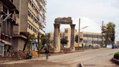 اللاذقية - حي الأشرفية .. بقايا معبد باخوس .. ثمانينيات القرن العشرين