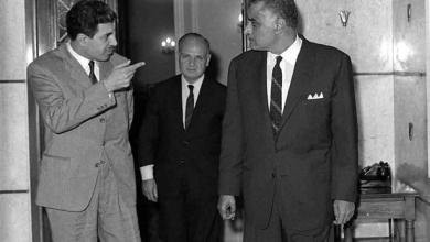 جمال عبد الناصر يستقبل إبراهيم ماخوس في آذار 1968