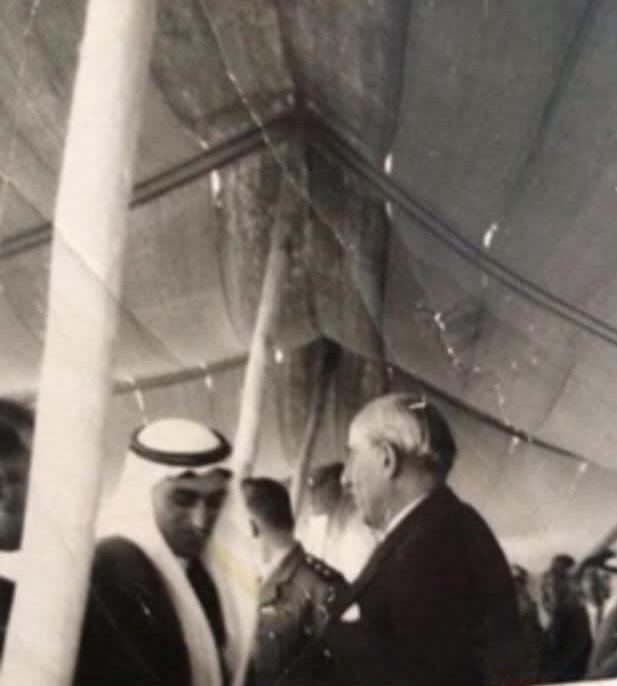 شكري القوتلي يضع حجر الأساس للمستشفى الوطني في القامشلي 1947