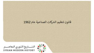 قانون تنظيم الشركات الصناعية عام 1962