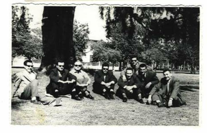 القاهرة 1958- ضباط بعثيون بعد نقلهم إلى مصر بعد قيام الوحدة
