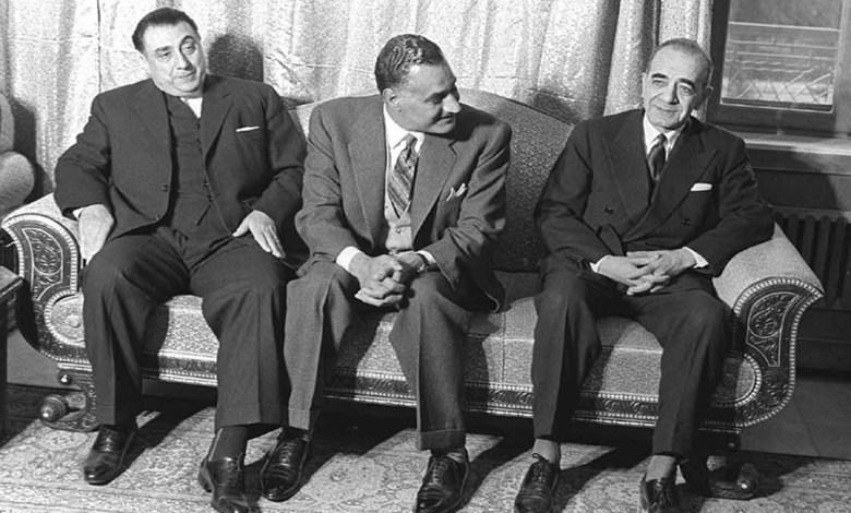 جمال عبد الناصر في جامعة دمشق لوضع حجر الأساس للمدينة الجامعية (7/2)