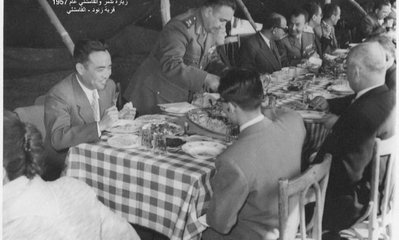 اللواء توفيق نظام الدين وعدد من المدعوين في قرية زنود - القامشلي 1957