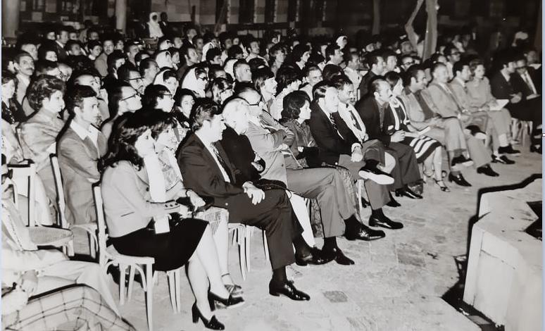 قصر العظم 1974 - الحفل الذي أقيم على شرف الوفد الأميركي - شركة بوينغ (3/1)