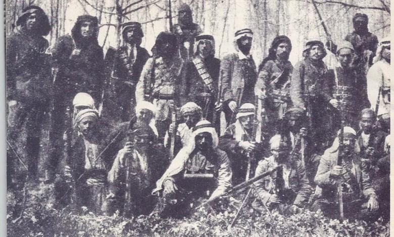 صبري العسلي مع مجموعة من المشاركين في الثورة السورية الكبرى
