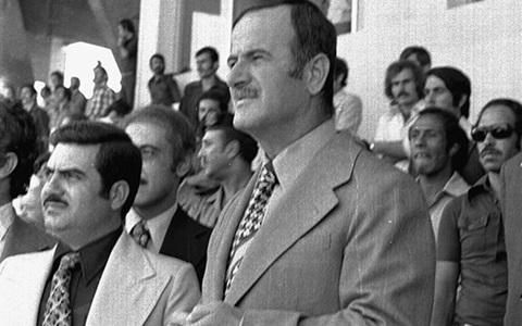 حافظ الأسد في افتتاح ملعب العباسيين (3)