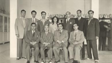 نجاح ساعاتي .. في الجامعة السورية عام 1946