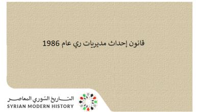 قانون إحداث مديريات ري عام 1986
