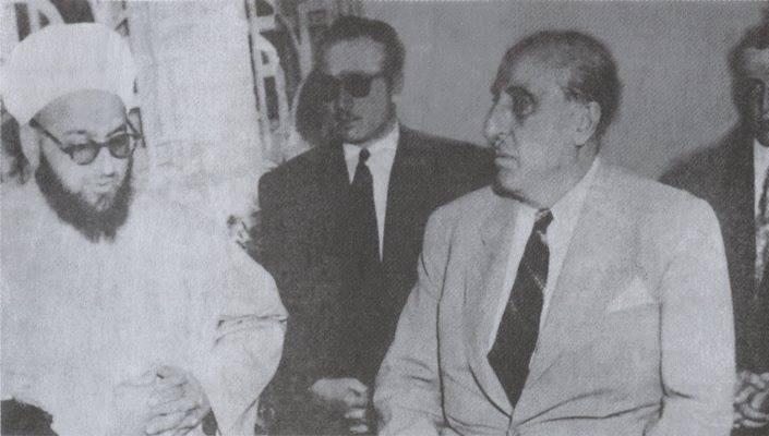شكري القوتلي وأحمد كفتارو عام 1948