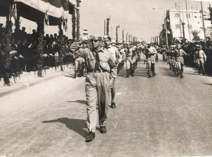 كشاف ثانوية الكلية الوطنية في اللاذقية في احتفال عيد الجلاء 1967