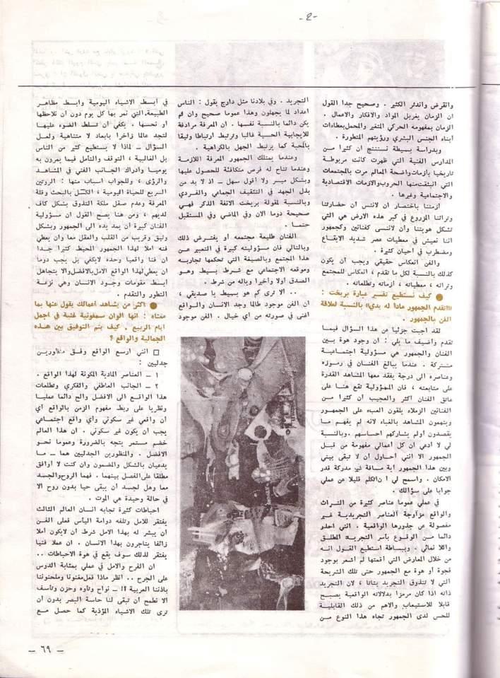 مقابلة الفنان أحمد مادون مع مجلة الفرسان عام 1979
