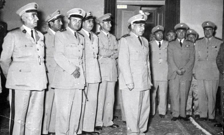 العقداء أديب الشيشكلي وعزيز عبد الكريم وتوفيق نظام الدين وآرام كرموكيان 1951