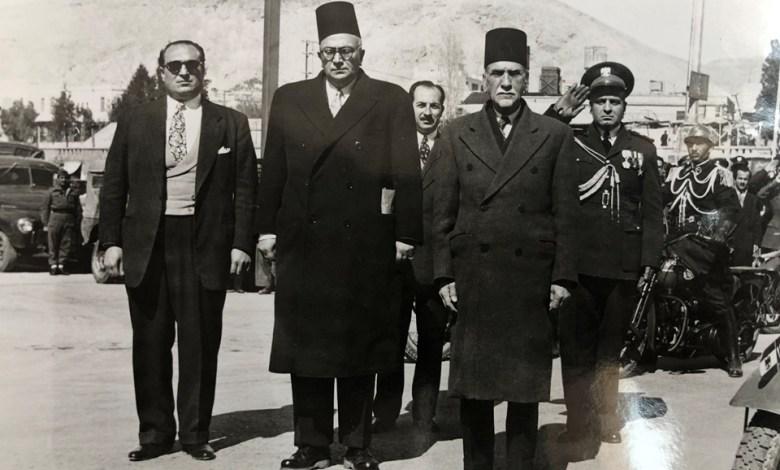 هاشم الأتاسي وخالد العظم وجمال الفيصل عام 1949