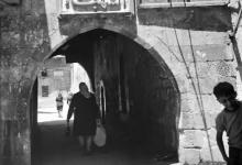 زقاق القرماني في حي ساروجة في خمسينيات القرن العشرين