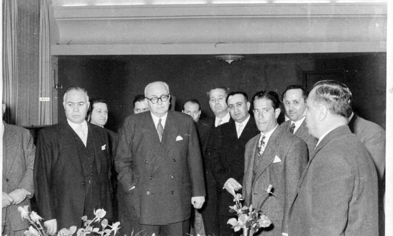خالد العظم وحامد الخوجه وتوفيق نظام الدين عام 1957  (1)