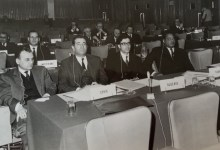 العقيد كاظم زيتونة في احدى لجان الأمم المتحدة في سبعينيات القرن العشرين