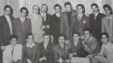 هيئة مؤسسي وإداريي ولاعبي نادي بردى الرياضي في دمشق عام 1956