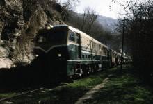 قطار الزبداني على طريق دمشق بيروت القديمة قبل بلدة دمر عام 1982