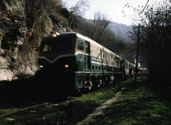 قطار الزبداني على طريق دمشق بيروت القديمة قبل بلدة دمر عام 1982 (2)