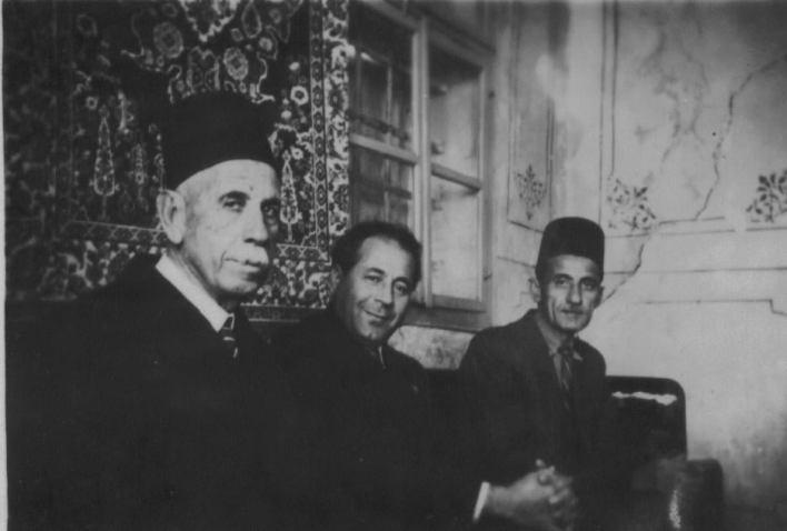 أنطون سعادة وإبراهيم مخلوف عميد عائلة آل مخلوف عام 1948