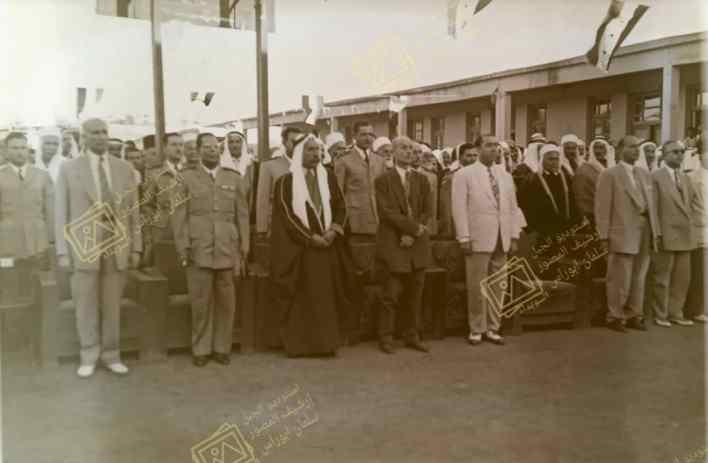 سلطان الأطرش ورئيف الملقي في مهرجان مديرية المعارف في السويداء عام 1955