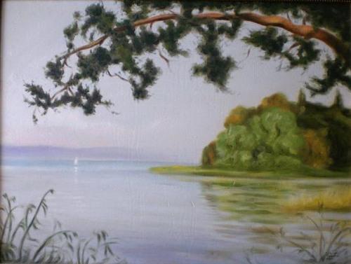 منظر طبيعي (2) .. من لوحاتالفنان لؤي كيالي (43)
