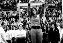 تتويج ريما شلهوب في مسابقة كرة السلة الأنثوية في الاسكندرية عام 1975