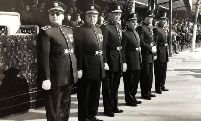 ضباط رئاسة أركان الجيش السوري في احتفالات عيد الجلاء 1955م (4)