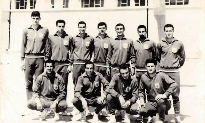 المنتخب السوري العسكري لكرة السلة عام 1964