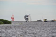 Some racing action in the harbour