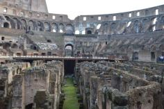 At the end, Gate of death. for losers. Below the arena, all the chambers for gladiators and wild animals.