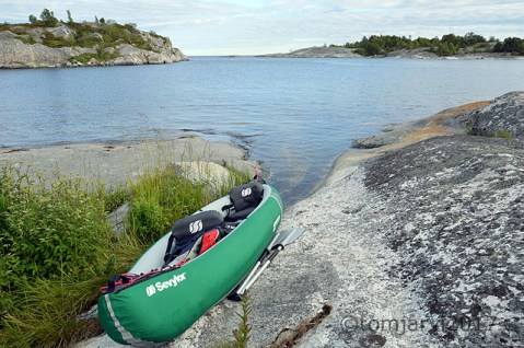 Perfect spot for coming ashore with the canoe