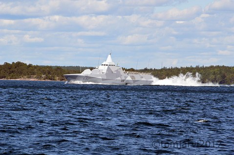 Swedish Navy not so stealthy ship
