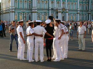 Marine`s Day in St. Petersburg