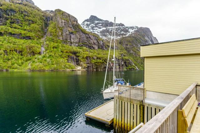 Unser Liegeplatz im Trollfjord