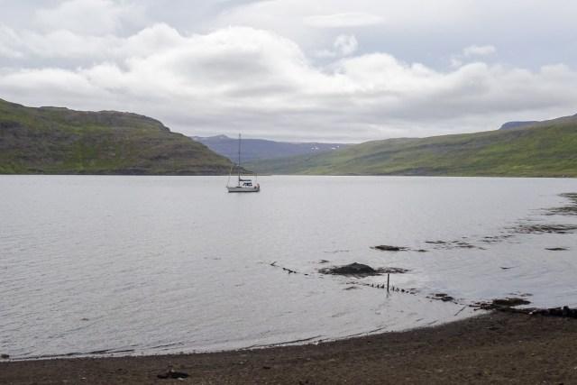 Blick zum Fjordende