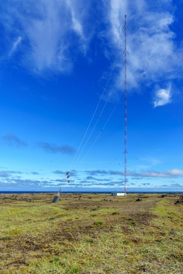 432 Meter hoher Funkmast bei Hellisandur