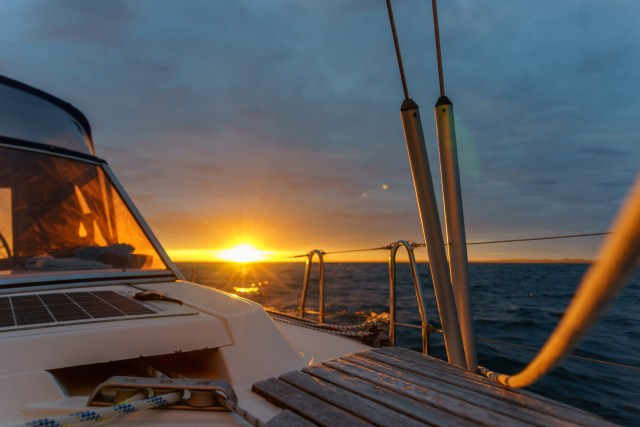 Mal kein Sonnenuntergang - diesmal ein Sonnenaufgang