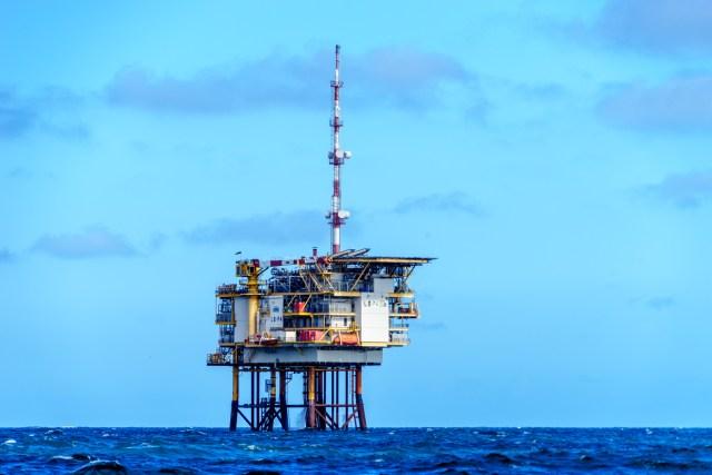 Ölplattform unterwegs